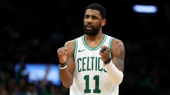 Kyrie's 37 points carries Celtics to comeback win