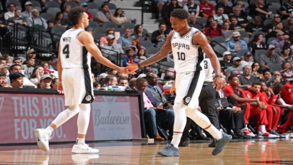 White's career-high 36 leads Spurs on commanding win