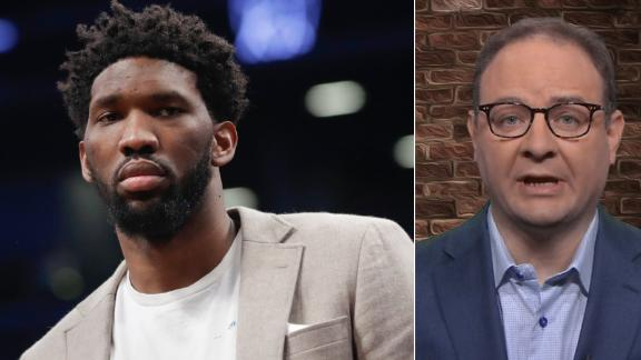 Woj: Embiid will be dealing with injury throughout playoffs
