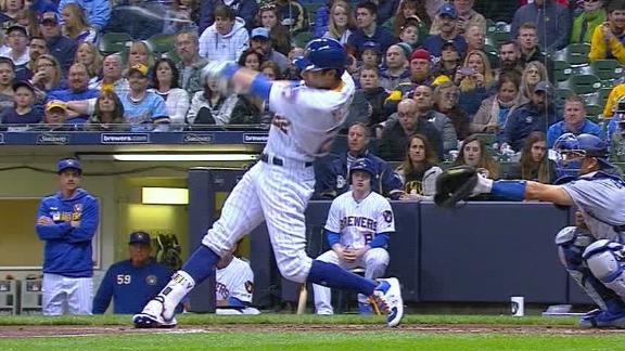 Hernandez's 3-run homer lifts Dodgers past Brewers 5-3