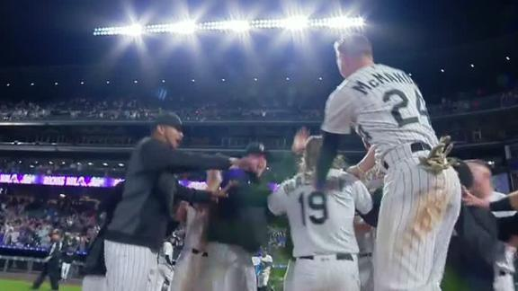 Blackmon hits walk off HR in 12th