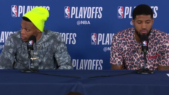 Westbrook, George not in the mood to answer questions