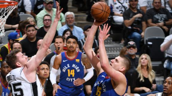 Nuggets even series behind Jokic's double-double