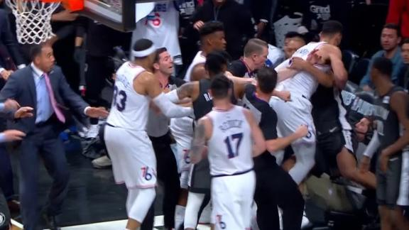 Butler, Dudley ejected after intense scrum in Brooklyn