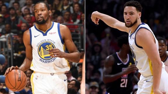 Durant, Thompson put on show to give Warriors 3-1 series lead