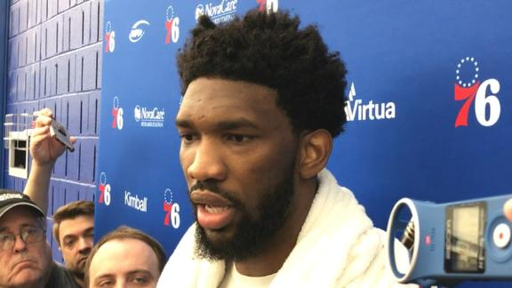 Embiid on Game 5 status: 'Gotta keep 'em guessing'