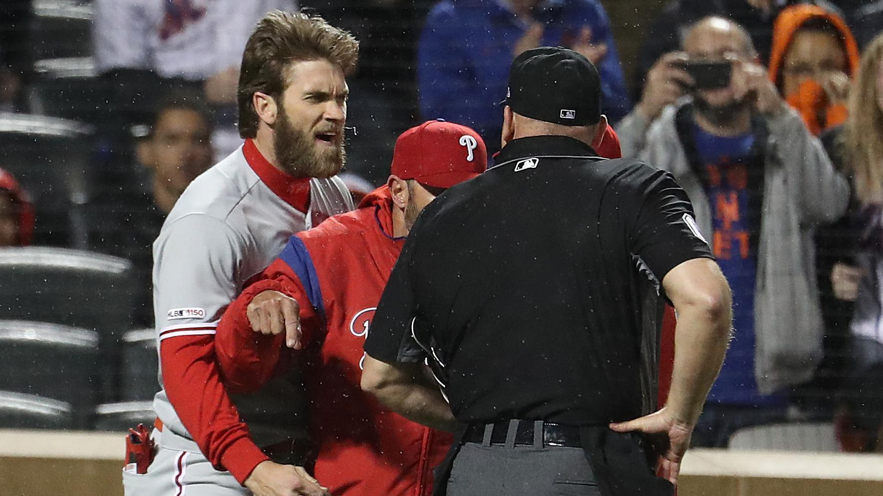 Harper ejected from dugout after arguing call