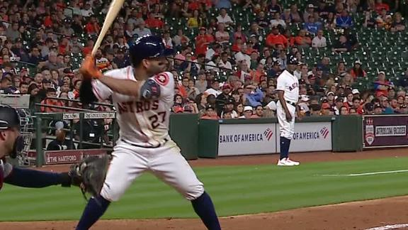 Altuve unloads HR to train tracks