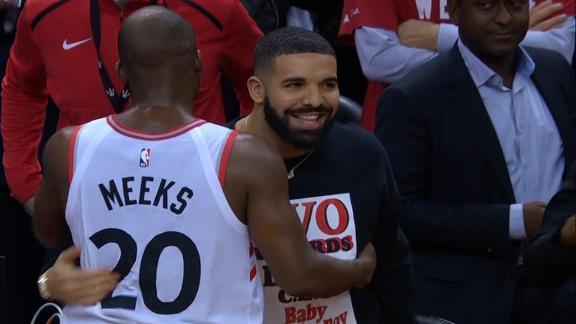 Drake congratulates Raptors after series win