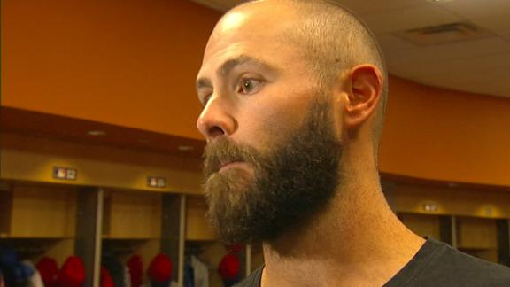 Arrieta: We need Harper in right field and he wasn't there
