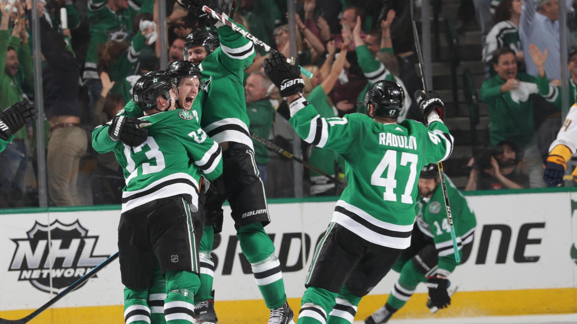 Klingberg's OT goal advances Stars to next round