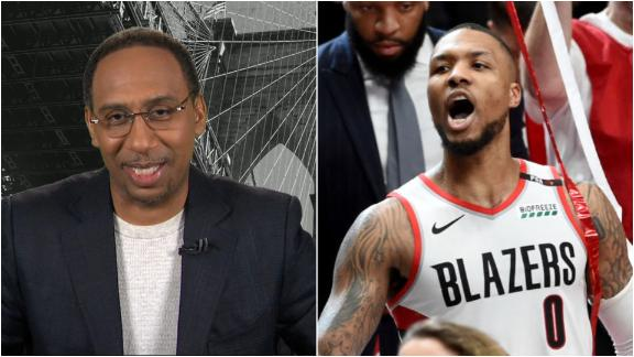 Stephen A. blown away by Lillard's 50-point performance