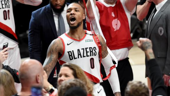 Lillard's electric first round, knocking off the Thunder