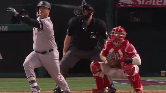 Ford blasts first home run in pinstripes