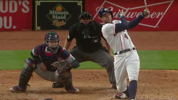 Springer pummels home run to left