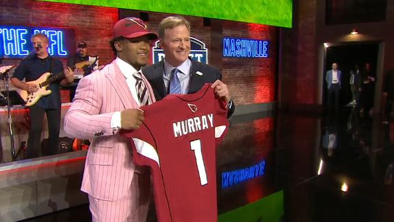 Kyler Murray goes No. 1 overall to the Cardinals