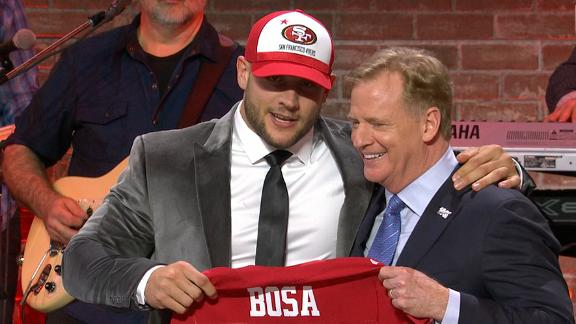 49ers select Nick Bosa with the No. 2 pick