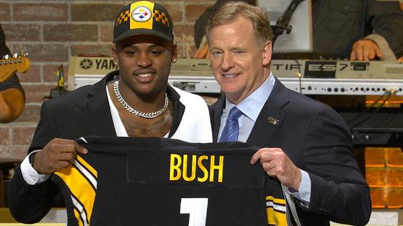 Steelers trade up to 10th pick, select Bush