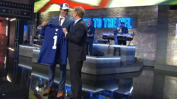 Giants select Daniel Jones with the No. 6 pick