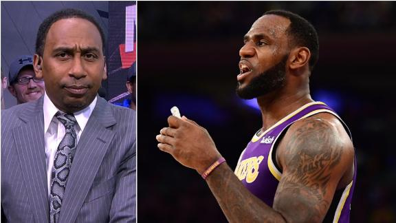 Stephen A. challenges LeBron to refute reports live on First Take