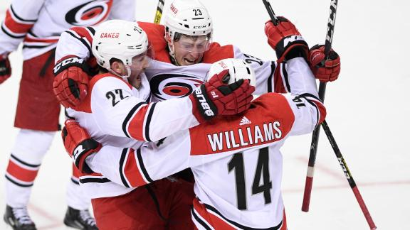 McGinn nets game-winner in 2OT to advance Hurricanes