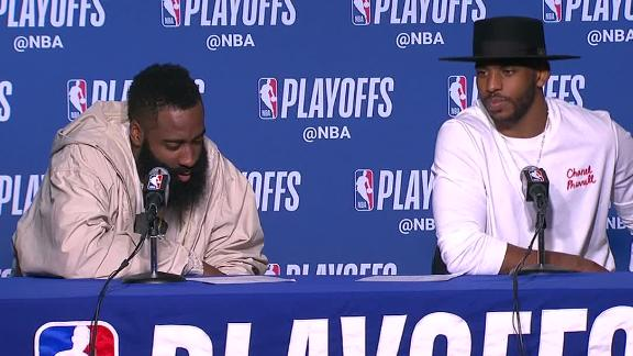 Harden admits he couldn't see much on the court