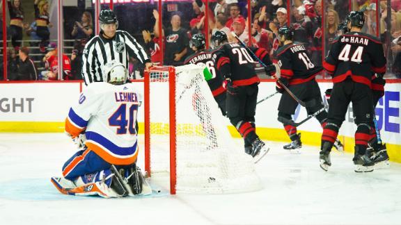 Teravainen scores as Hurricanes sweep Isles