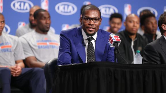 On this date: Durant makes 'You the real MVP' speech