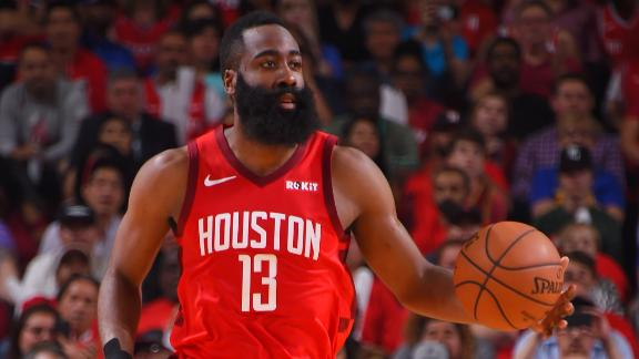 Harden, Rockets hold off Warriors to tie series