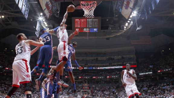 Raptors blow out 76ers in Game 5
