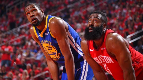 Things get physical in Game 4 between Warriors and Rockets