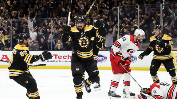 Bruins net two quick goals to take Game 1