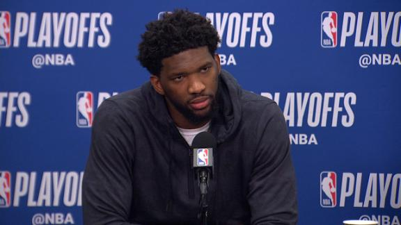 Embiid: 'Our backs were on the line tonight; they still are'