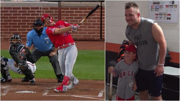 Trout fan asks for home run and Trout delivers