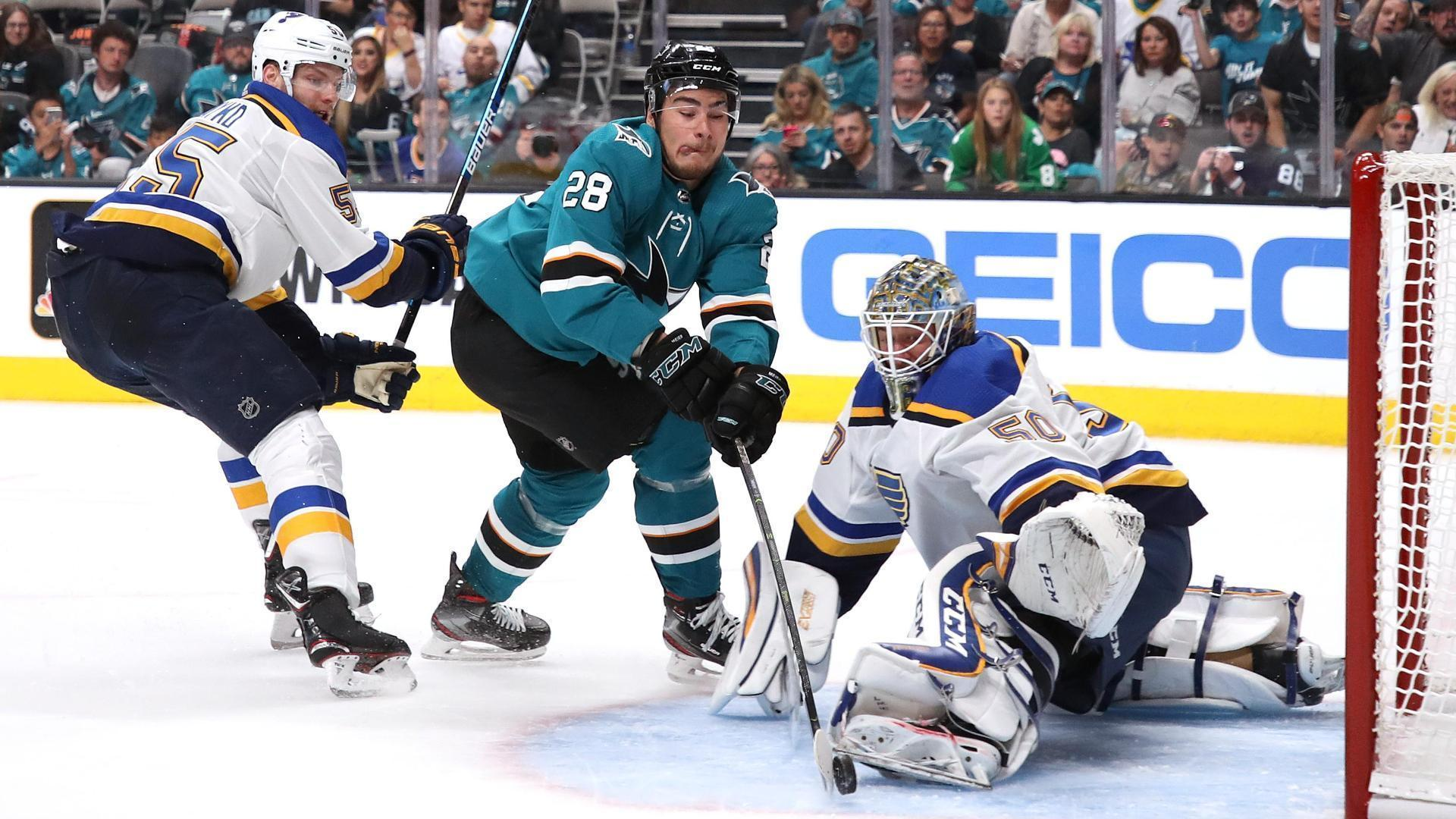 Meier scores two in Sharks' Game 1 win