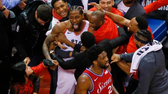 Raptors beat 76ers at the buzzer in Game 7