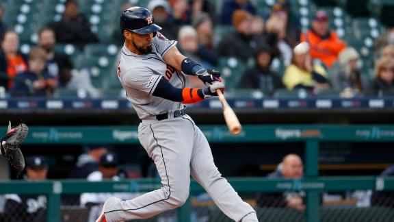Astros homer twice in second inning