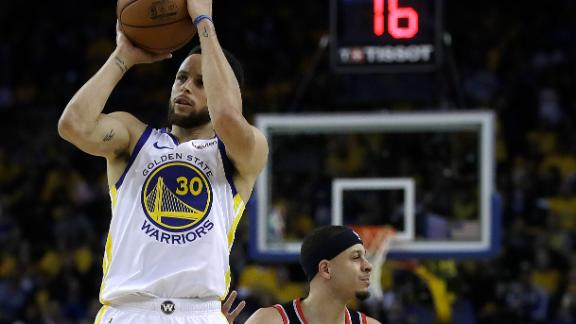 Steph hits nine 3s in Game 1 win