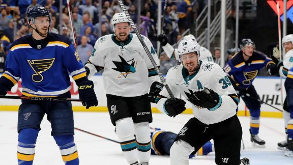 Sharks steal Game 3 after forcing OT late in 3rd period