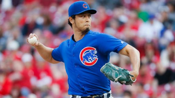 Darvish finishes with 11K's in Cubs' loss
