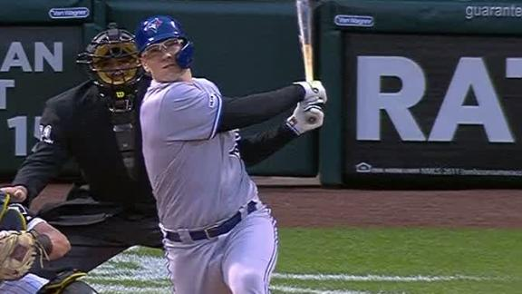 Jansen rips homer to center