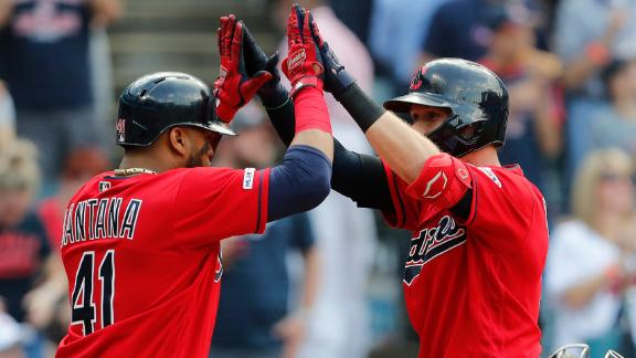 Luplow, Santana go yard in Indians' win