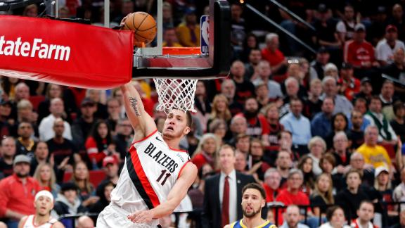 Lillard finds Leonard in transition for huge and-1 finish