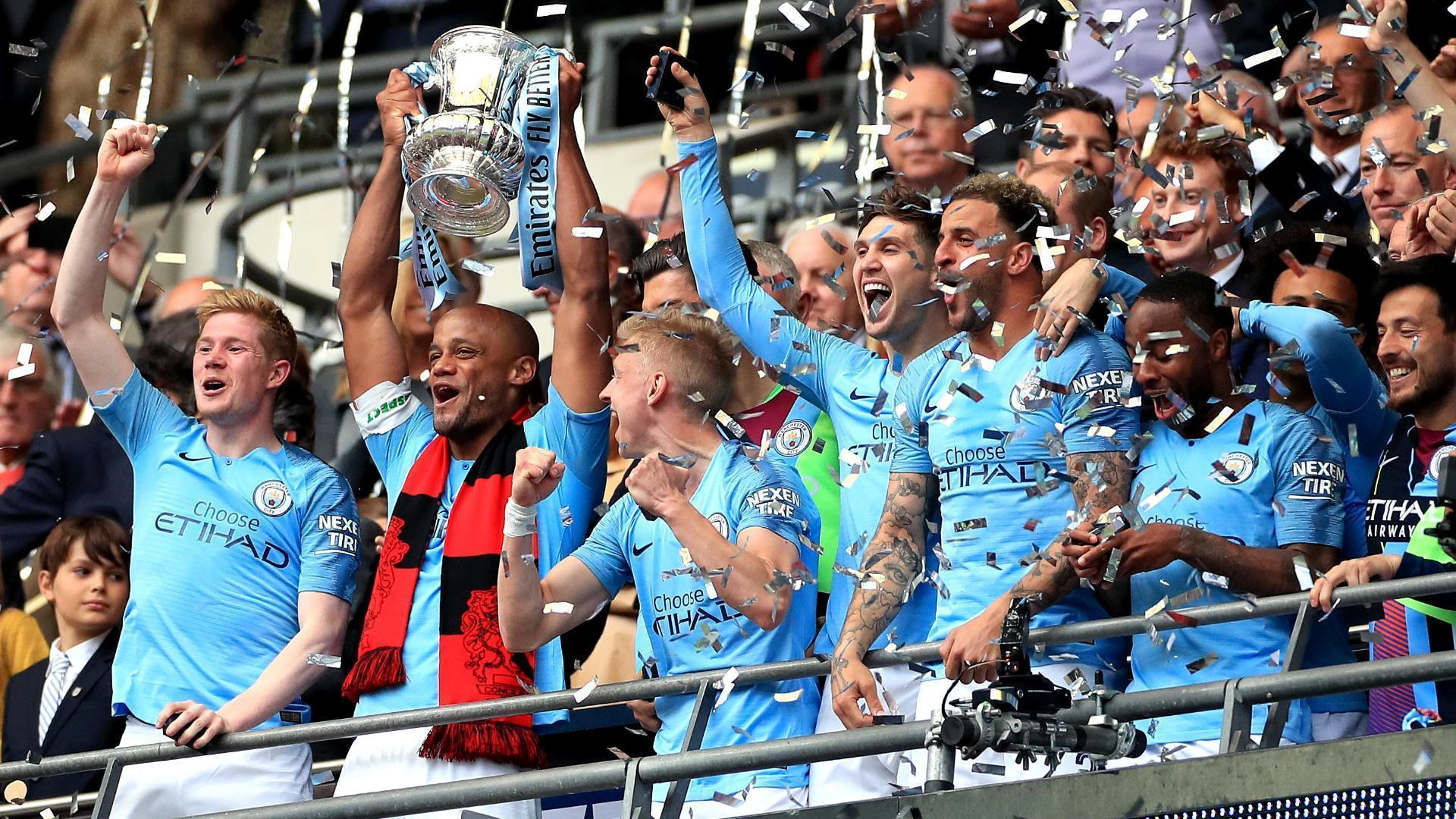 Manchester City lift the FA Cup to cap historic treble run
