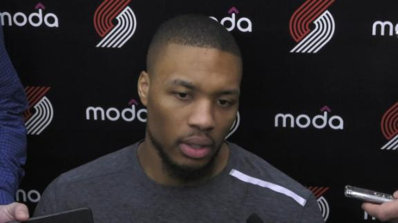 Lillard confirms he's playing with separated ribs