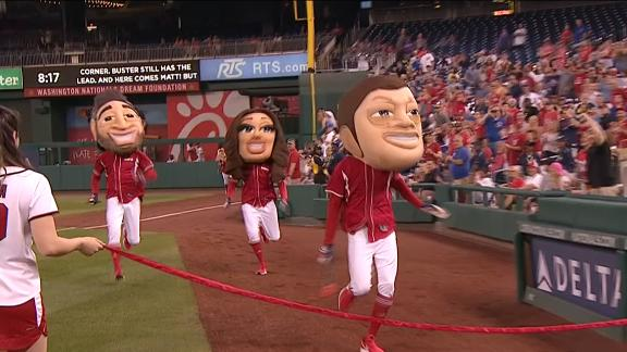 Buster Olney wins the Presidents race