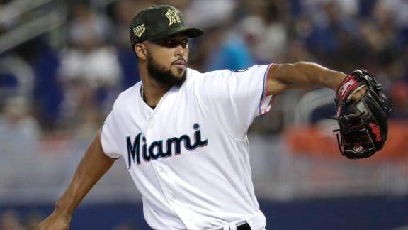 Alcantara tosses two-hit shutout