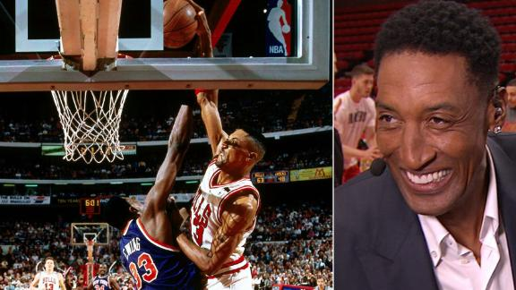 Pippen reminisces about iconic dunk over Ewing