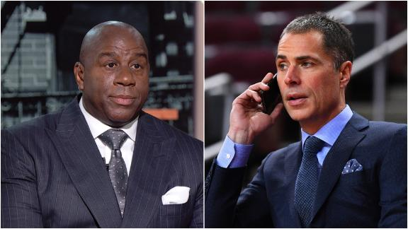 Magic accuses Pelinka of 'backstabbing'