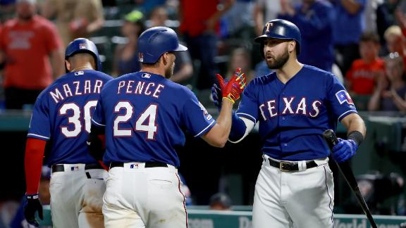 Rangers smack five home runs in win vs. Mariners